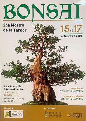 Cartel de la 26 Mostra de la Tardor Associació Bonsái Castelló