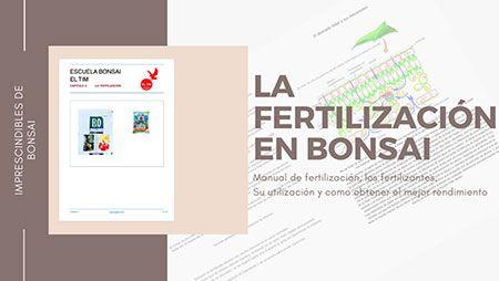 Curso World Bonsái Universitu(WBU): la fertilización en bonsái