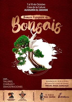 Cartel de la exposición Amigos del Bonsái de Arroyo de la Miel