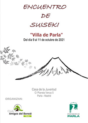 """Cartel del Encuentro de suiseki """"Villa de Parla"""""""